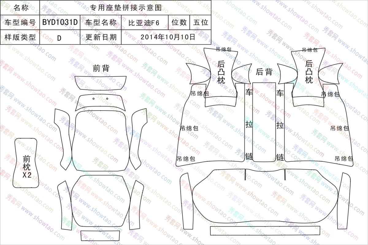 基本信息 车型编码: byd1031d 车型说明:  产品类别: 汽车坐垫 所属
